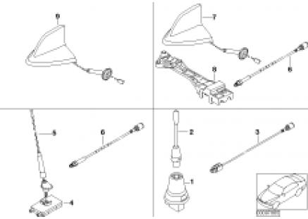 Single parts f V-series teleph. antenna