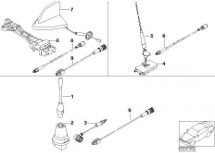 Single parts f Classic telephone antenna