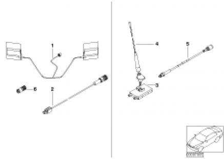 Single parts f Apollo telephone antenna