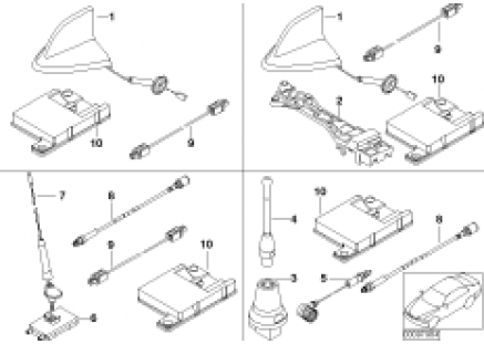 Single parts f Cordless teleph. antenna