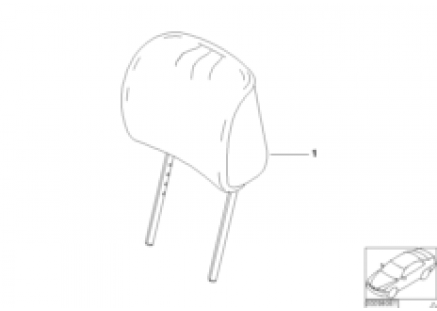 Indiv. headrest, sports seat, leather