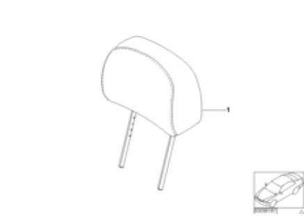 Indiv. headrest, standard seat,Alcantara
