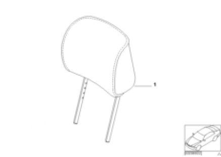 Indiv. headrest, sports seat, Alcantara