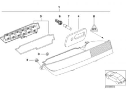Rear light in trunk lid