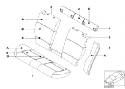 Individual cover, seat, rear, leather Q9