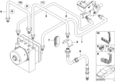 Front brake pipe, DSC