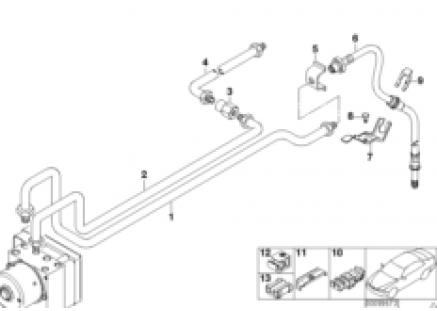 Rear brake pipe DSC