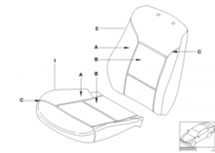 Individual standard-seat cover leather