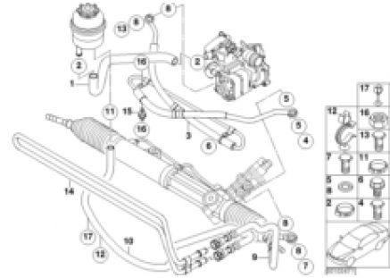 Hydro steering-oil pipes