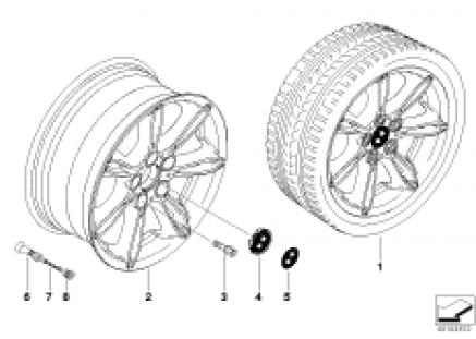 BMW LA wheel/double spoke 103