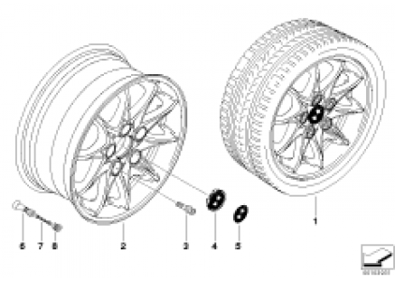 BMW LA wheel, star spoke 104