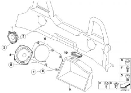 Loudspeaker rear hifi