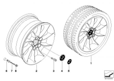 BMW LA wheel turbine styling 106