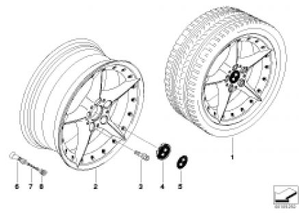 BMW Composite wheel, star spoke 108