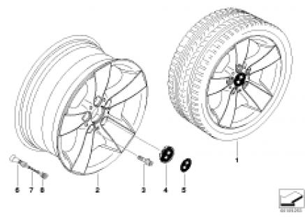 BMW LA wheel, star spoke 105