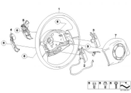 Steering wheel airbag steptronic