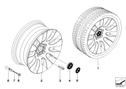 BMW alloy wheel, ellipsoid styling 91