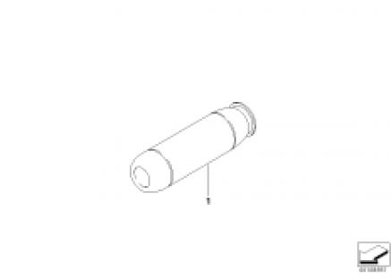 Handbrake handle chrome
