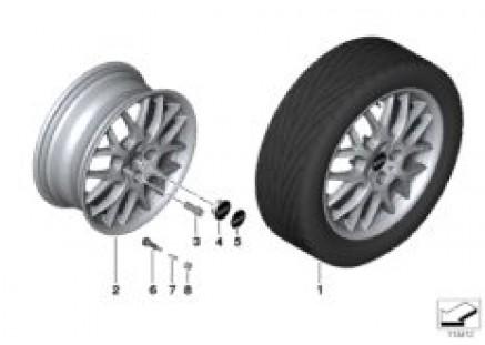 MINI light alloy wheel, cross spoke 90