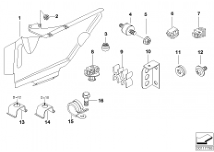 Mounting parts for clutch lines
