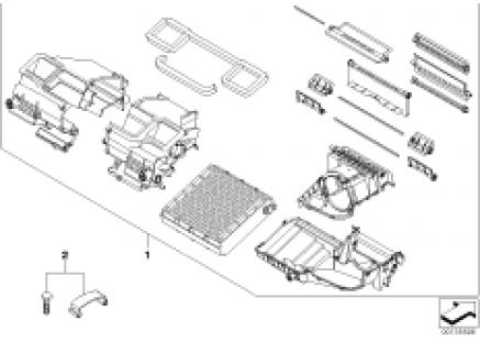 Housing parts, heater