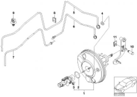 Power brake unit depression