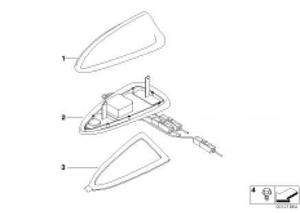 Single parts f telephone roof antenna