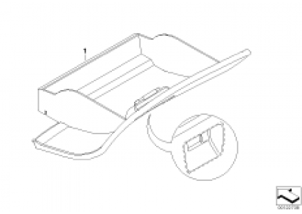 Individual glove compartment, leather