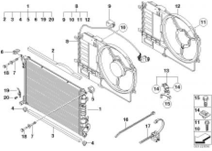 Radiator/frame