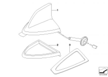 Single parts, teleph.antenna multi-band