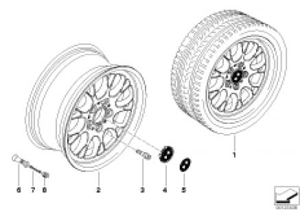 BMW light alloy wheel, cross spoke 133