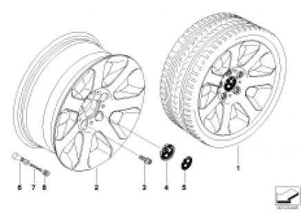 BMW LA wheel, star spoke 115