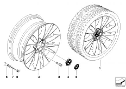 BMW LA wheel/double spoke 116