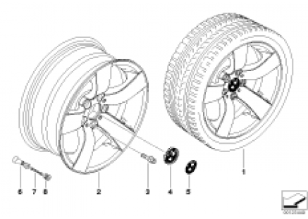 BMW LA wheel, star spoke 122