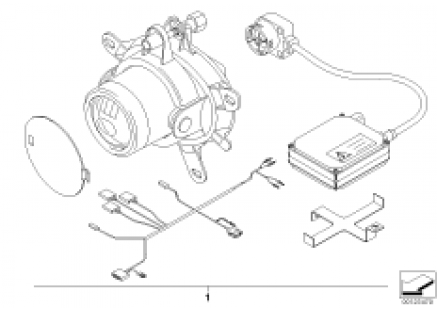 Install.set additional headlight Xenon