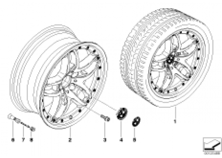 BMW composite wheel, double spoke 71