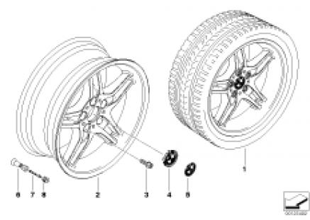 BMW LA wheel/double spoke 125