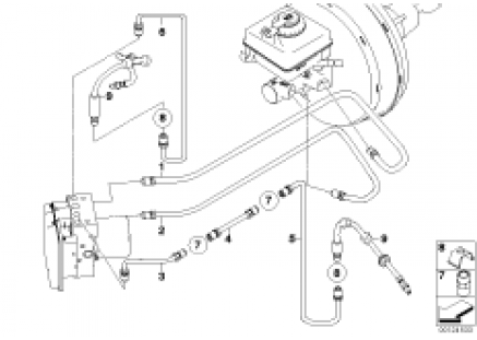 Brake line, front (S541A)