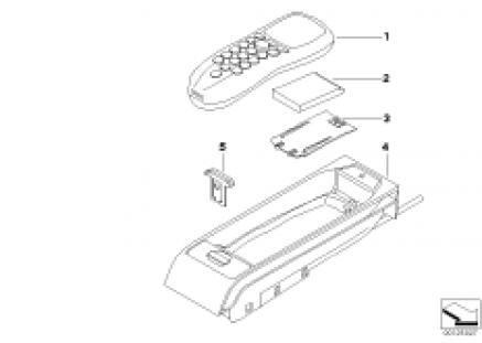 Tandem car telephone parts