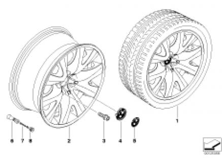 BMW light alloy wheel, V-spoke 126