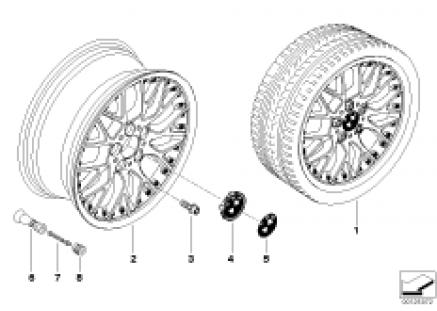 BMW Composite wheel, cross spoke 78