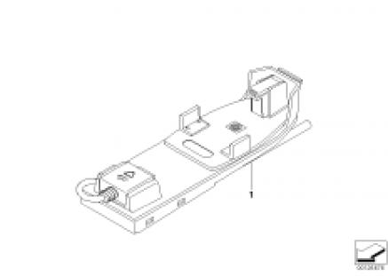 Indiv. parts, phone handset/mountg Japan