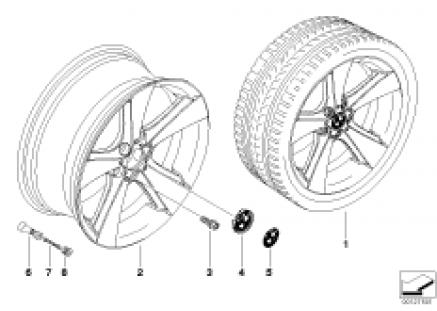 BMW light alloy wheel, spider spoke 128
