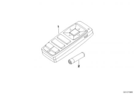 Remote control, rear