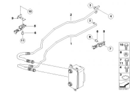 Transmission oil cooler line