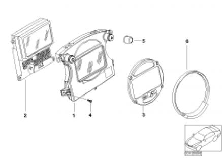 Instrument cluster, navigation