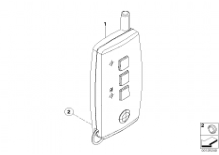 Transmitter f auxil.heating remote ctrl