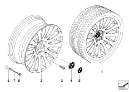 BMW LA wheel, radial spoke 118