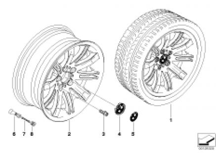 BMW LA wheel/double spoke 120