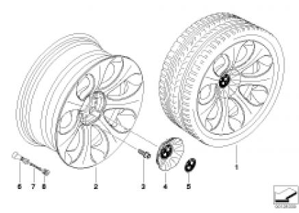 BMW LA wheel, ellipsoid styling 121